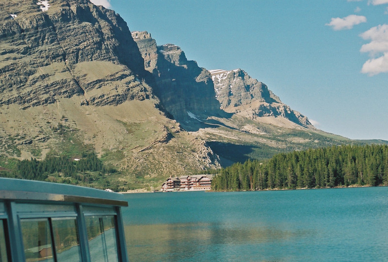 Returning to Many Glaciers Lodge on Swiftcurrent Lake