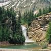 Running Eagle Falls, double waterfall near Two Medicine Lake