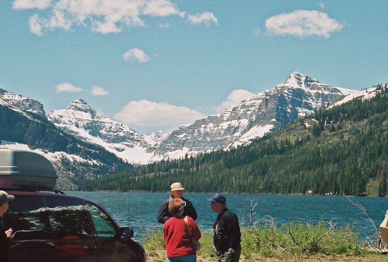 Two Medicine Lake and Rising Wolf Mountain (right)