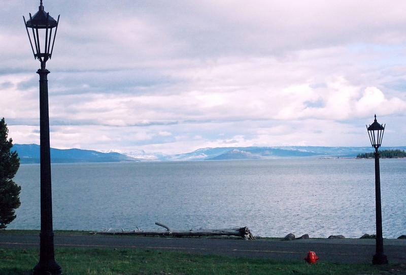 Yellowstone Lake, from hotel