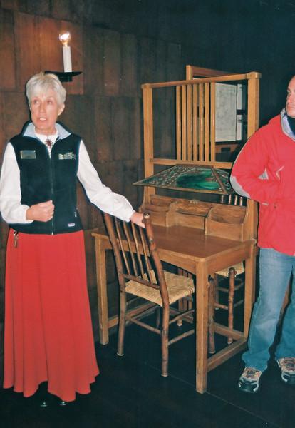 Old Faithful Inn, tour guide and custom writing desk