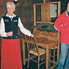 Old Faithful Inn, tour guide and custom writing desk