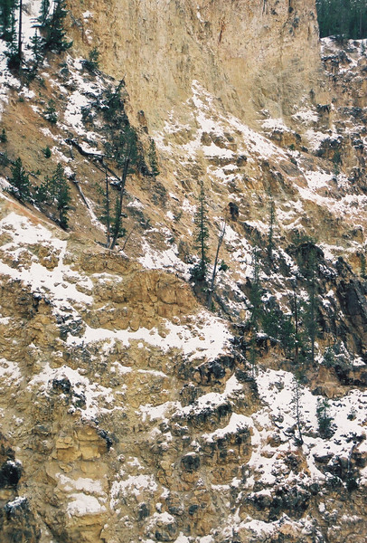Side of Yellowstone Gorge