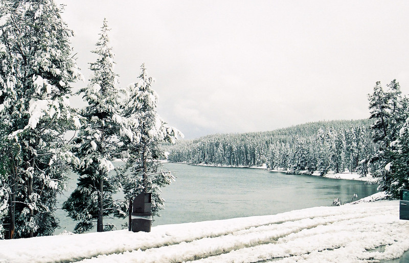 Yellowstone River in the snow