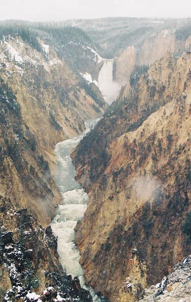 Yellowstone Gorge, lower falls
