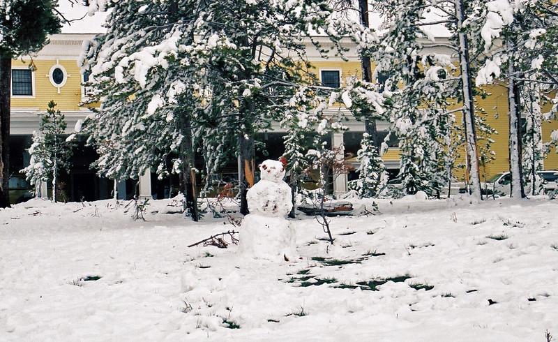 Yellowstone Lake Hotel - snowman