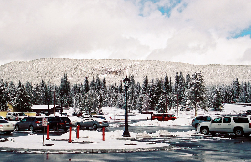 Yellowstone Lake Hotel parking lot