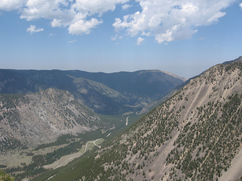 This is looking down the valley towards Red Lodge.
