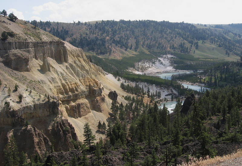 This is the Yellowstone River, near Tower Falls.