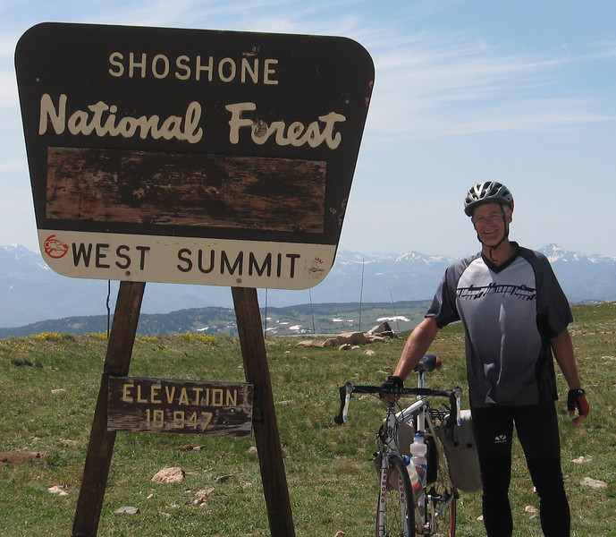 Here's Ken at the summit.