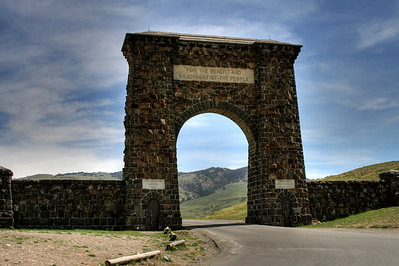Roosevelt Arch - North entrance to Yellowstone National Park
