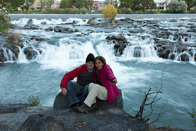 Idaho Falls - long waterfall