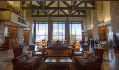Lobby of Grand Teton Lodge