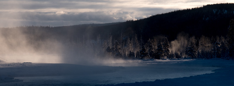 Morning mist, Madison river