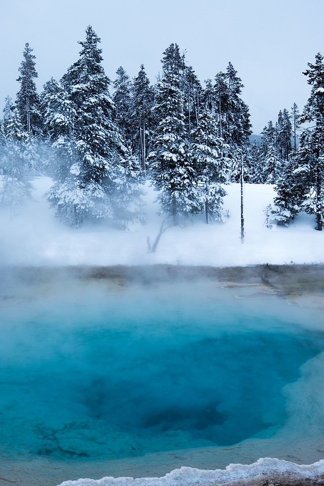 Thermal pool near artist paint pot