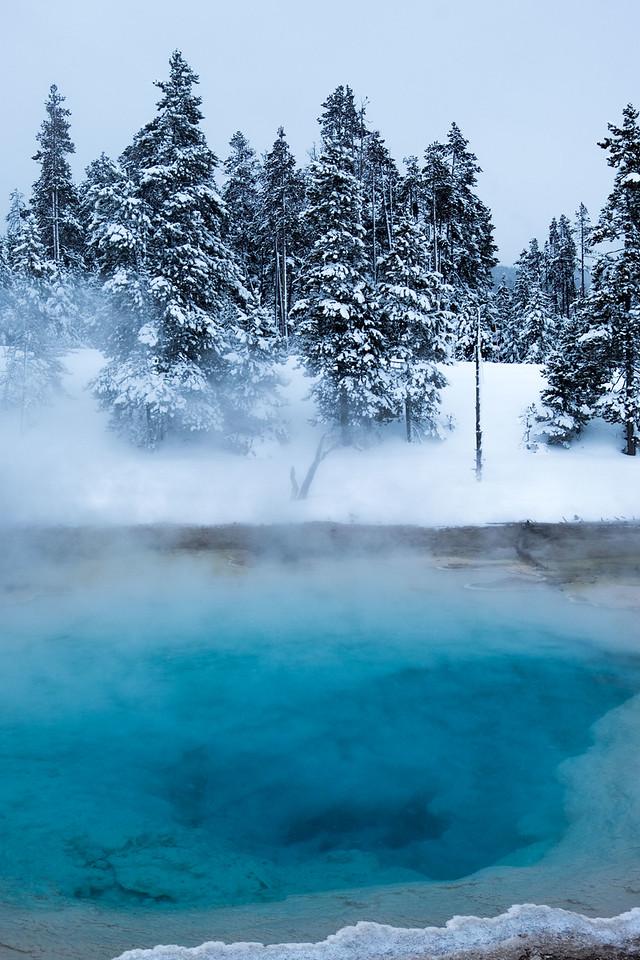 Thermal pool near artist paint pot