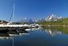 Colter Bay Marina and Grand Tetons<br /> <br /> Daily Photo: 9/8/2011