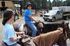 Horseback riding at Hell's A Roarin' Ranch.