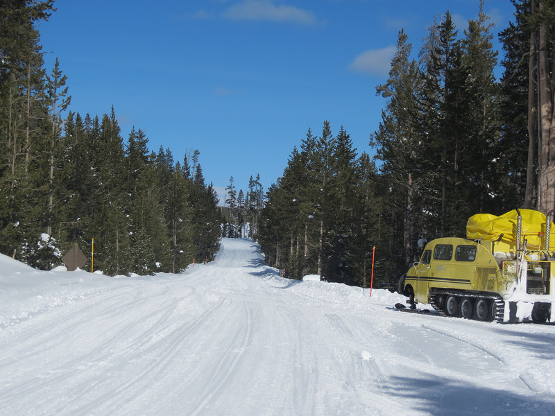 Snow Coach into Yellowstone