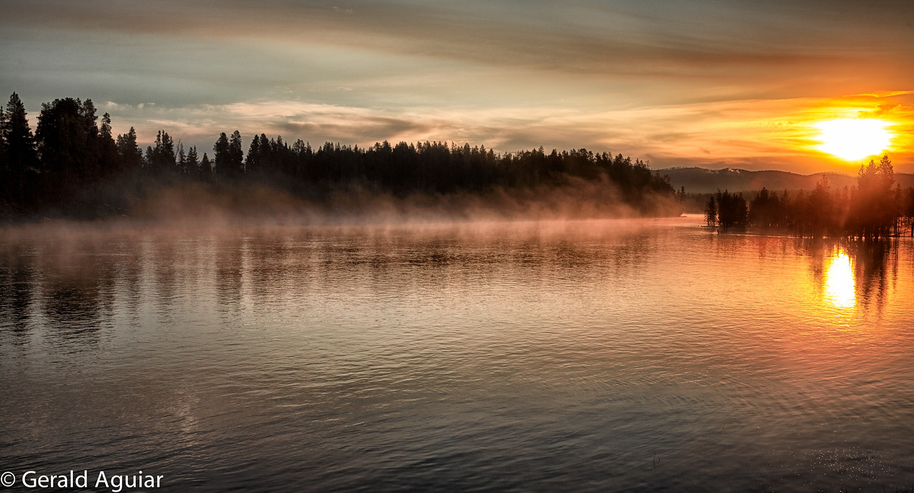 Sunrise on the Yellowstone River