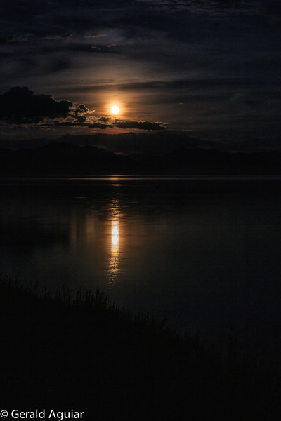 Moonrise on Lake Yellowstone