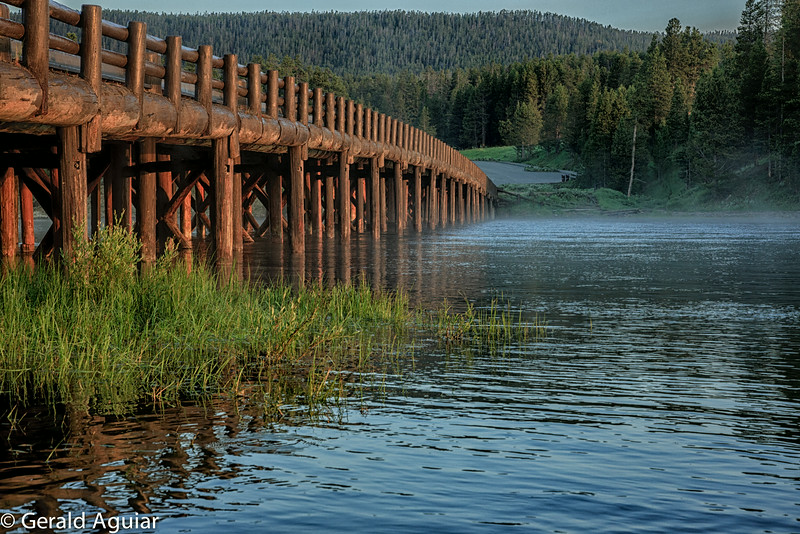 Wooden Bridge Across the Yellowstone River