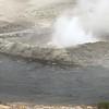 geyser by the stream