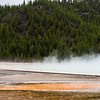 Steamy grand prismatic spring