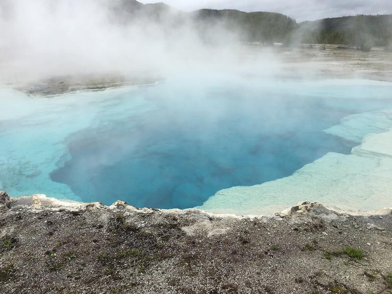 Peering into Sapphire Pool