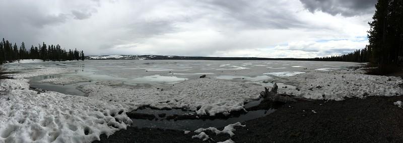 Lake Lewis - still frozen!