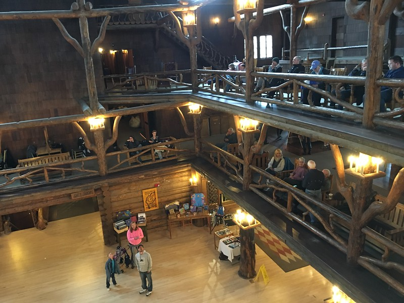 Old Faithful lobby from 3rd floor