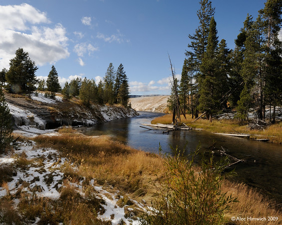Just another delightful view from Yellowstone, NP.  This is the Madison River in the western area of the park.