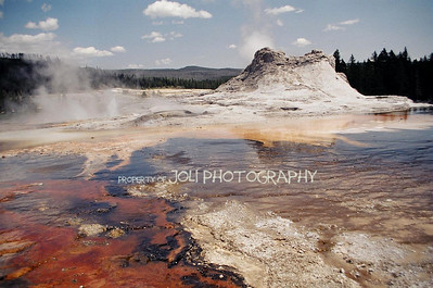 Castle Geyser at Yellowstone, NP
