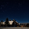 Orion over Old Faithful Inn