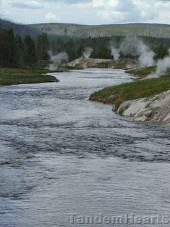 Firehole River near Old Faithful.