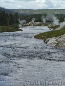 Firehole River near Old Faithful.