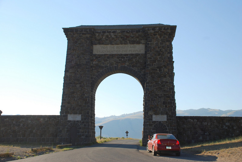 The entrance to the oldest national park in the world
