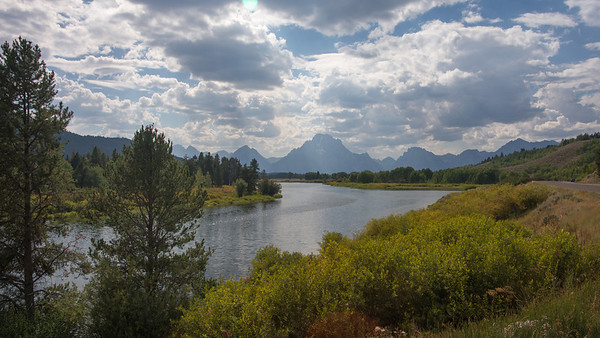 Snake River ~ Looking toward the Grand Tetons, Wyoming