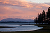 Evening, Yellowstone Lake, Yellowstone National Park, Wyoming, USA, North America
