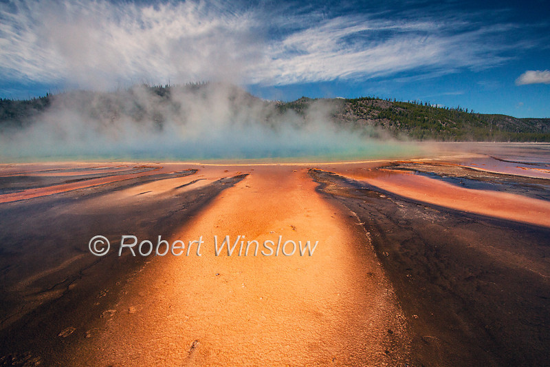 Grand Prismatic Spring, Midway Geyser Basin, Yellowstone National Park, WY, USA, North America