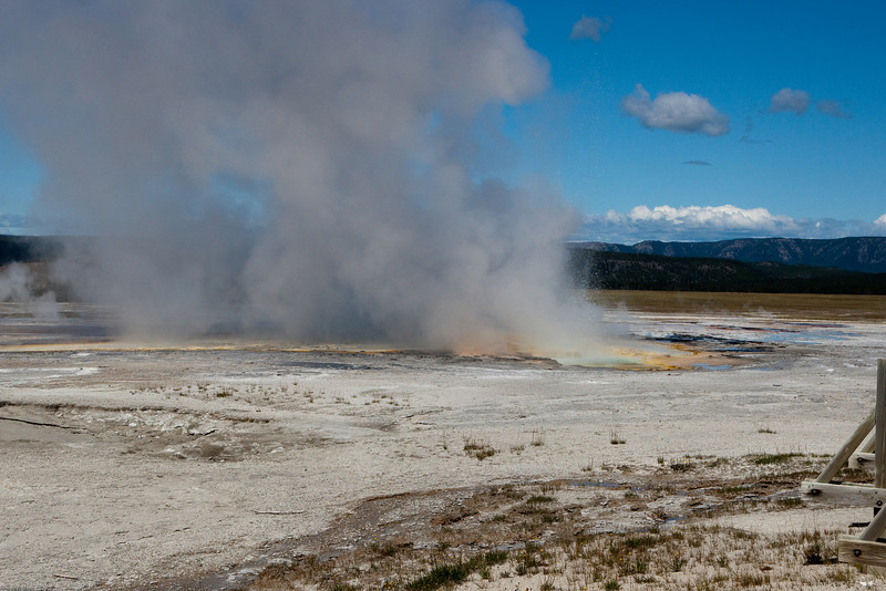 Clepsydra Geyser erupts almost every three minutes.