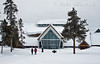 Old Faithful Visitor Center, Winter, Yellowstone National Park, Wyoming, USA, North America