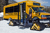 Model Released, Woman, Snowcoach, Winter, Yellowstone National Park, Wyoming, USA, North America