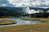 Firehole River looking toward Lower Geyser Basin, Yellowstone National Park, Wyoming, USA, North America