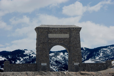 North Entrance of Yellowstone National Park at Gardner, Montana
