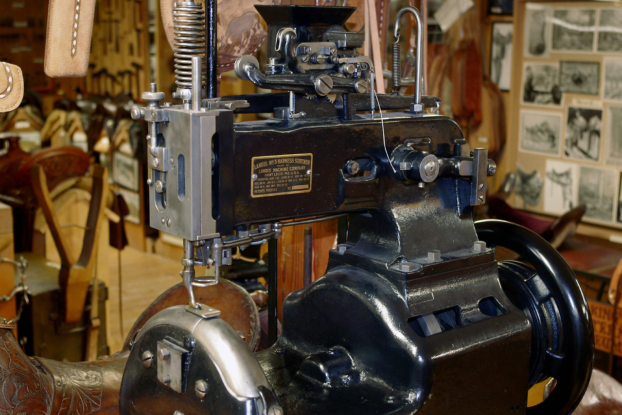 No. 3 Harness Stitcher, a leather sewing machine, made by the Landis Machine Company, Saint Louis, MO. Cowboy museum, King's Saddlery, Sheridan, Wyoming.