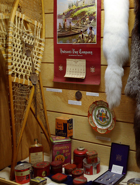 Hudson's Bay display, Museum of the Fur Trade, near Chadron, Nebraska.