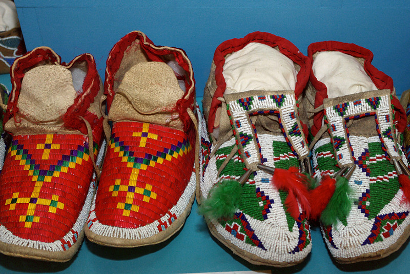 Beaded moccasins, Museum of the Fur Trade, near Chadron, Nebraska.