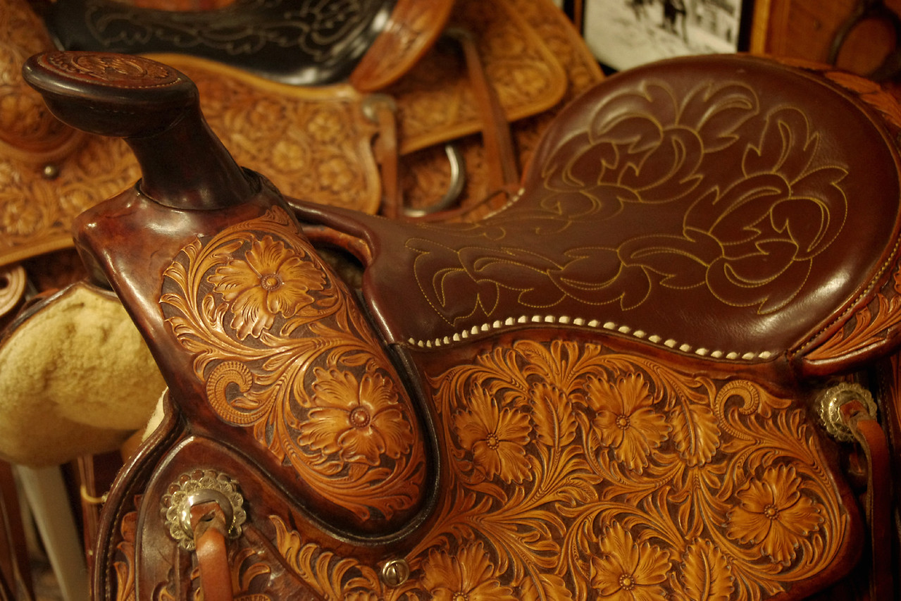 One of hundreds (thousands?) of saddles - old and new at King's Saddlery, Sheridan, Wyoming.