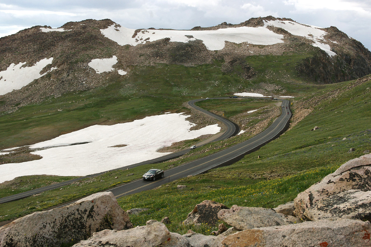 View of the Beartooth Highway (Wyoming 212, NE of Yellowstone National Park).
